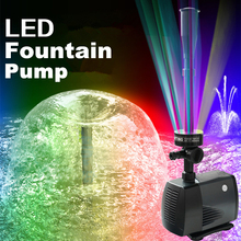 цена 40w 2000l/h Fish Pond Aquarium Submersible Water Pump Fountain Maker Garden Decoration Led Fountain Pump With Led Color Changing