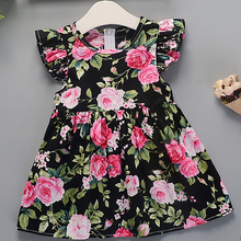 Baby Girls Dress Flower Printed Clothes