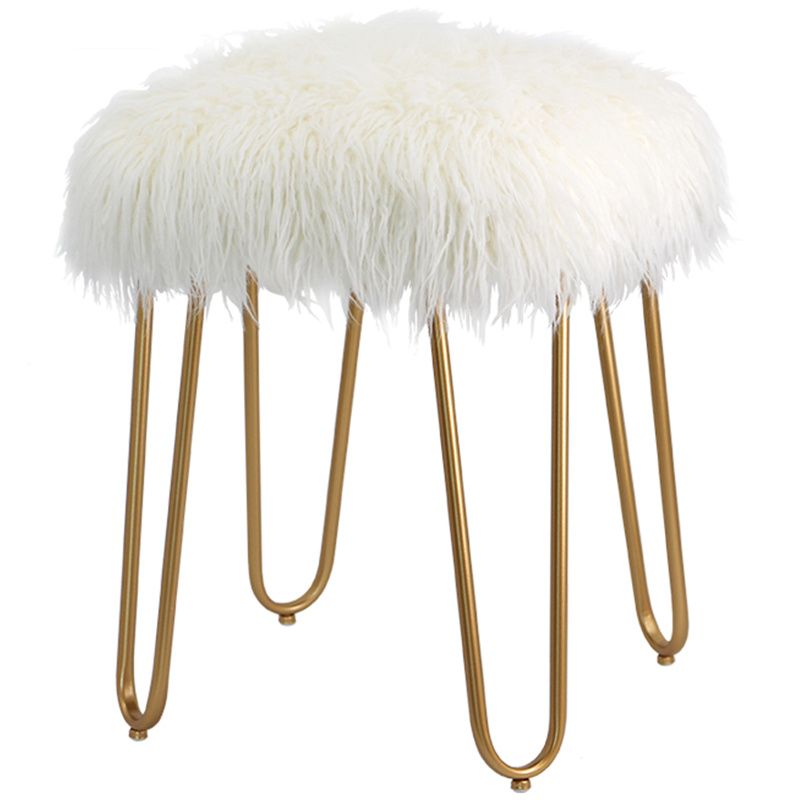 North European Fashion Dressing Stool Chair Shoe Stool Net Red Long Hair Light Luxury Bedroom Stool Dressing Table Makeup Stool