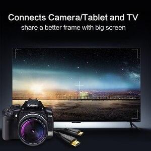 Image 5 - Mini HDMI HDMI Cable1.4 sürüm yüksek hızlı adaptör 1080p 3D için altın kaplama ile projektör HDTV lcd tv kamera düz erkek Erkek