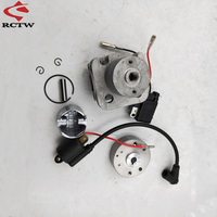 2 Stroke 4 Hole 29cc RC Marine Cylinder & Rotor Ignition Coil and Stator Kit for Racing Boat ZENOAH G290 PUM Engine Parts