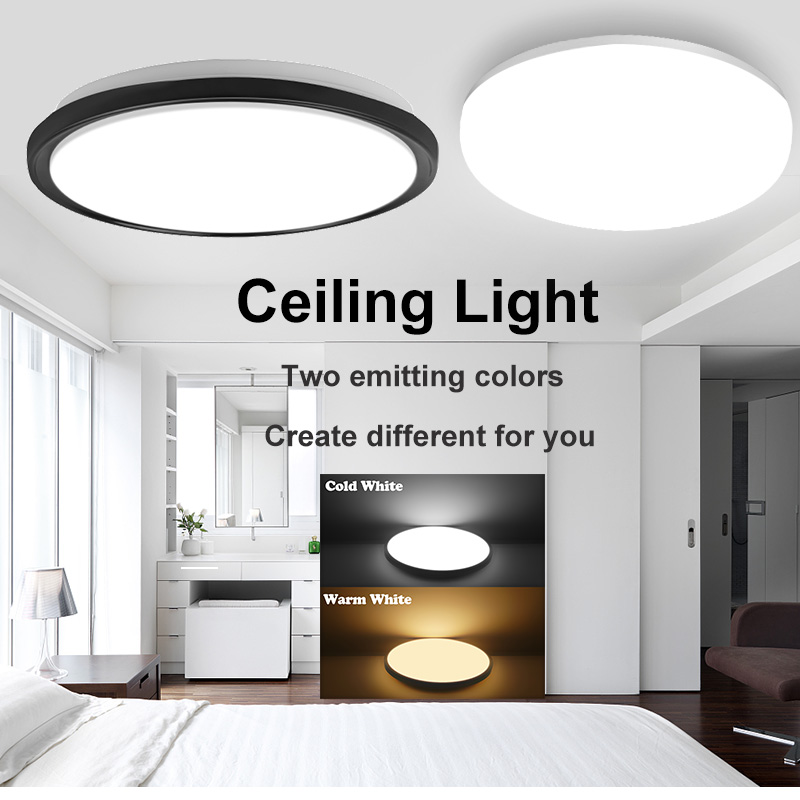 Led Ceiling Lights Modern LED Ceiling Lamp Light 220V 15W 20W 30W 50W Cold Warm White Lighting Surface Mounted For Home Kitchen