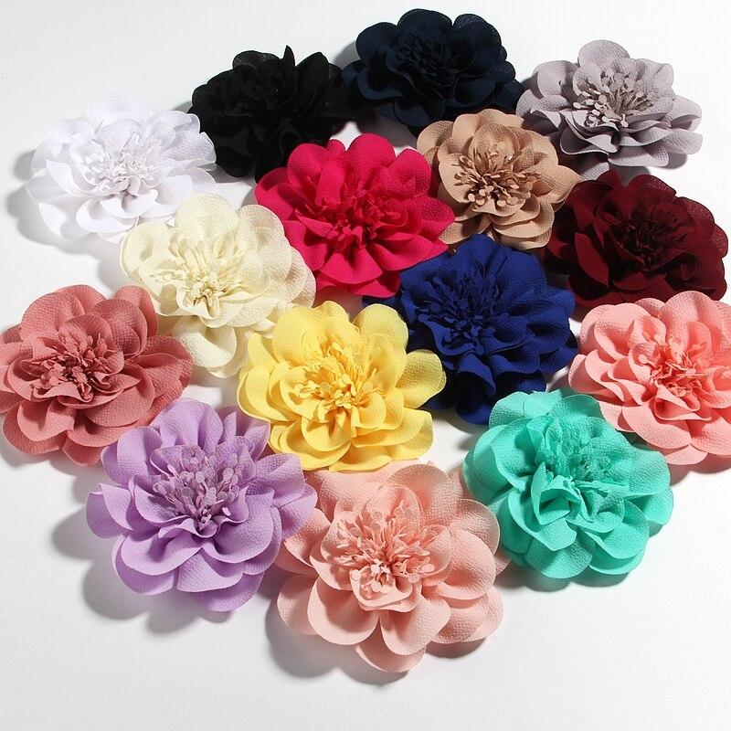 Заколка для волос с шифоновыми цветами, 10 см, 3,8 дюйма, 1 шт.