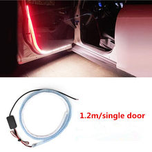 new hot LED Car Opening Door Safety Warning Lights FOR Nissan Tiida Teana Skyline Juke X-trail Almera Qashqai 2016 2017 Juke(China)