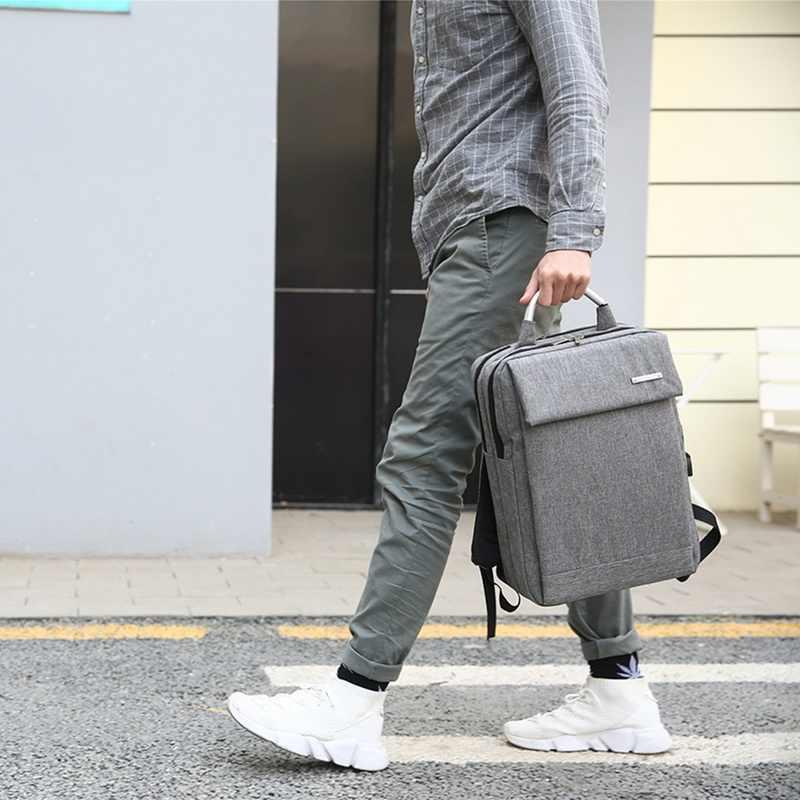 SHUJIN Anti hırsızlık Usb Laptop sırt çantası 2019 iş büyük kapasiteli sırt çantası erkek bilgisayar okul çantası seyahat sırt çantası okul çantası