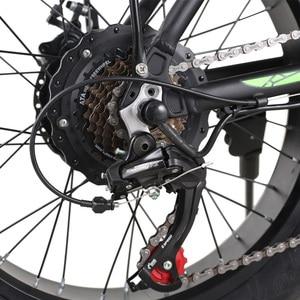 Высококачественный электрический велосипед с толстыми шинами 48 в 750 Вт Батарея 15 Ач складной алюминиевый сплав 20*4,0 Двойной шоковый пляжный ...