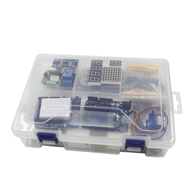 Elego UNO Project The Most Complete Starter Kit for Arduino UNO R3 Mega2560 Nano with Tutorial / Power Supply / Stepper Motor 2