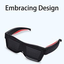 Magic Bluetooth Led Party Glasses App Control Luminous Emd Dj Electric Syllables Eye 2019 Original Sale