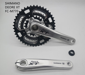 Image 1 - SHIMANO DEORE XT M770 bicycle crankset  FC M770 9/10S  speed 30 /27s speed BIKE MTB hollow crank set 44 32 22T 170 175mm