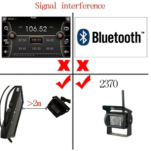 """Image 5 - Podofo 7""""  LCD Wireless Car Rearview Monitor HD Display Reverse Assistance Paking Camera System For Truck RV Bus Vehicle"""