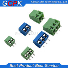 Terminal Block-Connector KF128 KF301-2P Pcb-Screw Pin 3P And Blue Green Straight 20pcs/Lot