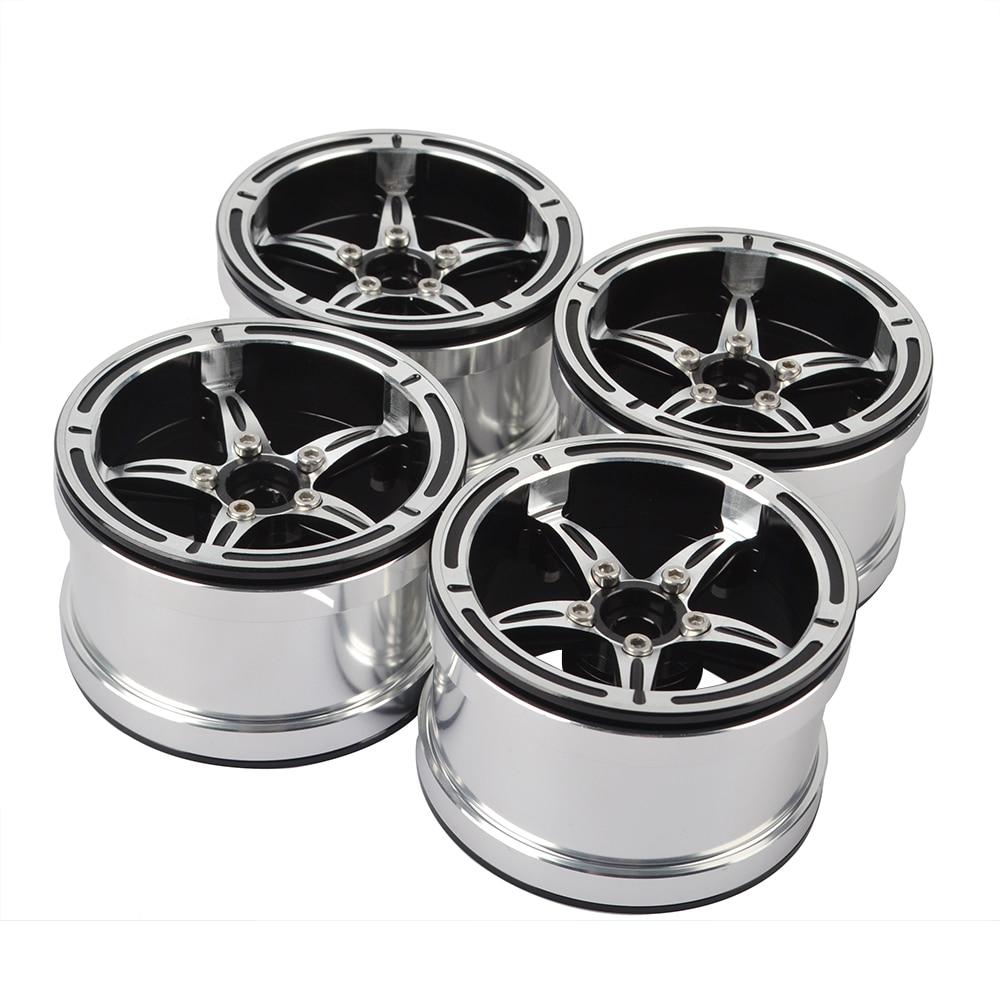 Metal 2.2 Beadlock Wheel Rims for Axial SCX10 RR10 Wraith 90048 90018 Traxxas TRX4 TRX-6 1/10 RC Rock Crawler(China)