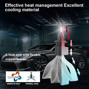 Image 3 - H4 H7 LED 자동차 조명 9005 H11 H8 H9 HB1 HB3 9006 9007 880 자동차 전조등 전구 LED 12V 8000LM 6000K 2PCS AF