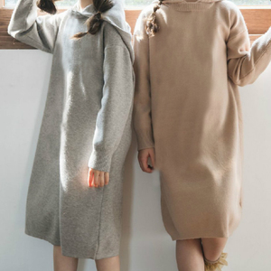 Image 5 - 2020 New Kid Sweater Dress Baby Princess Dress Girl Autumn Dress Children Dress Rabbit Hair Core Spun Yarn Toddler Sweater,#3469