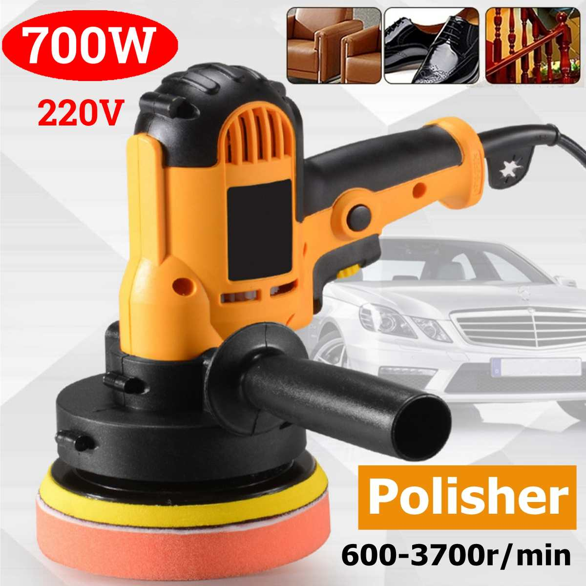 700w Buffer Polisher Machine Electric Car Polisher Waxer Variable Speeds Tool Household Waxing Polishing Machine