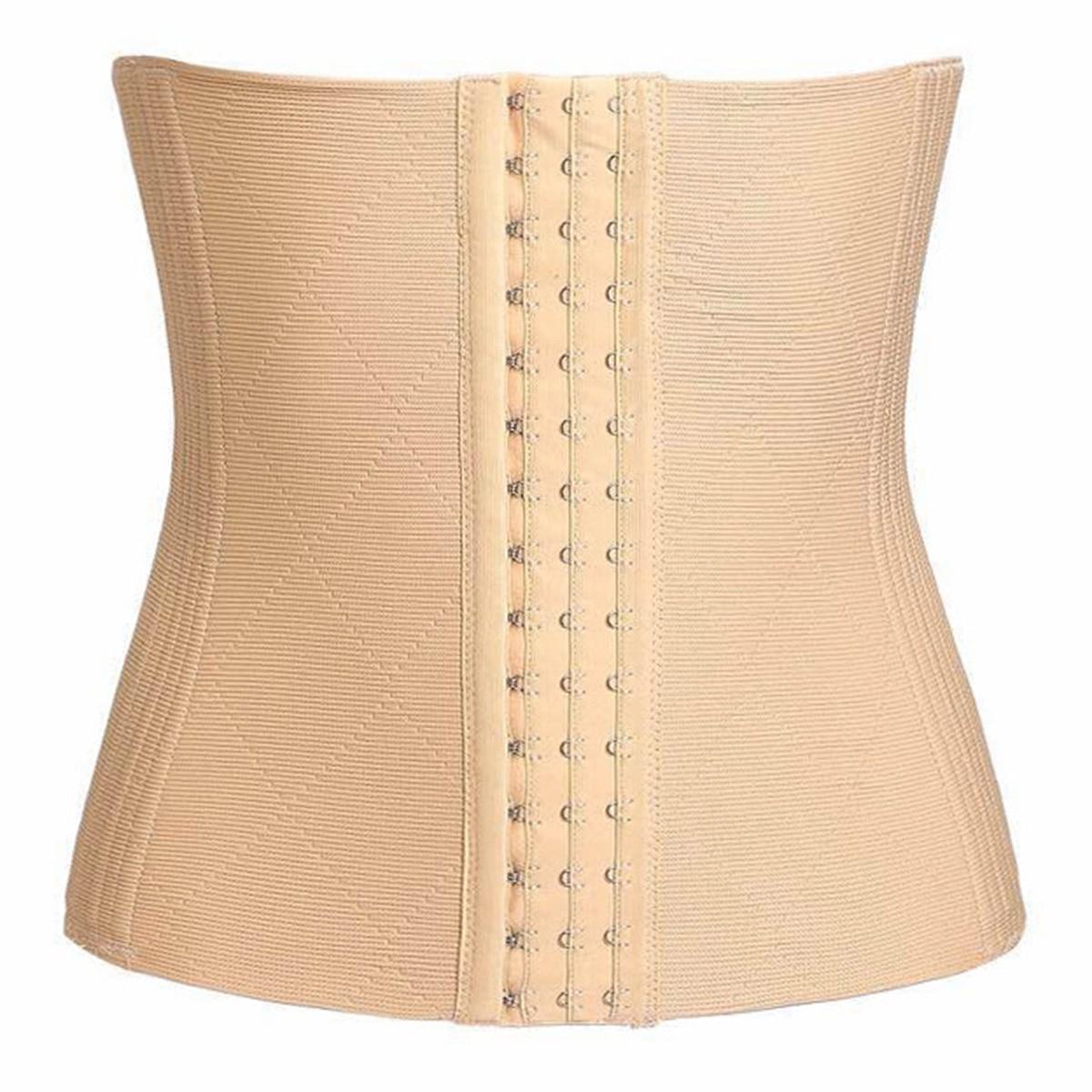 Nylon Waist Trainer Corset 16 Steel Bone Shapewear Body Shapers Women Corset Slimming Belt Waist Shaper Cinta Modeladora