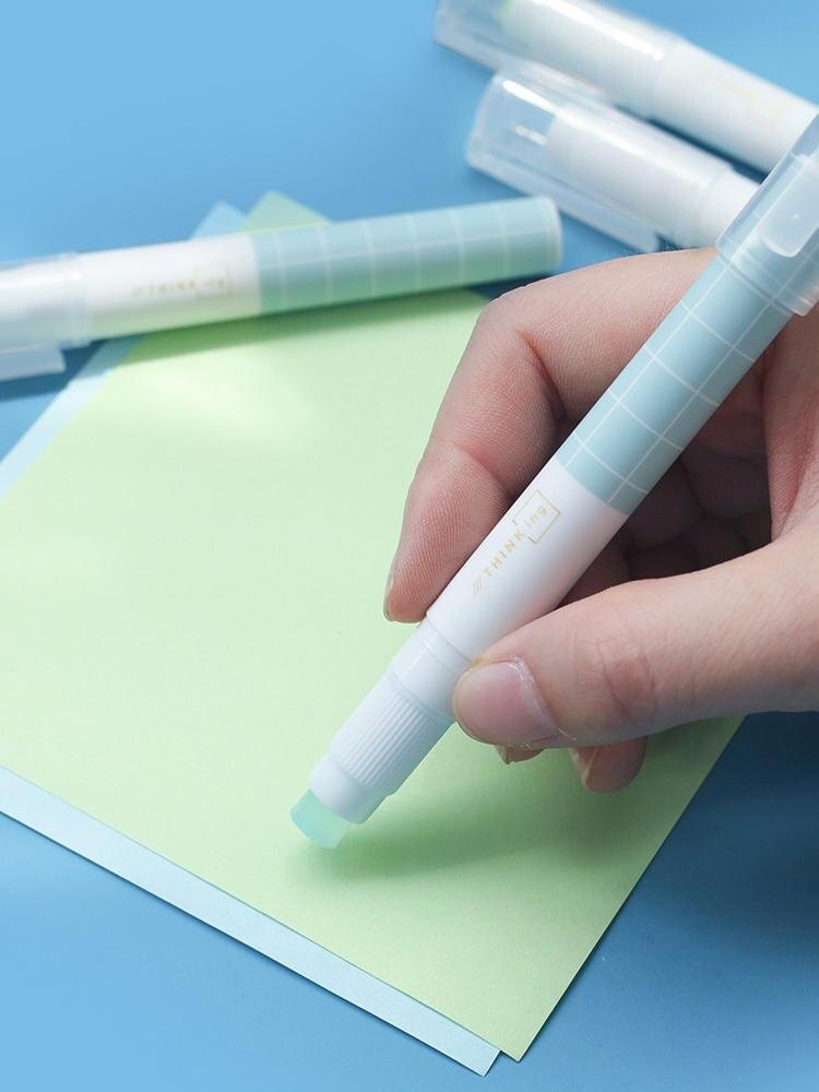 Хорошее качество, дневной клей, Стик, модная бумага в форме ручки, твердый клей, купить 2 шт., отправить подарок