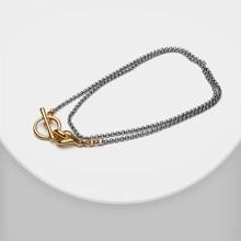 Amorita boutique Mode passenden farbe vergoldung Kreis locker lange kette doppel schicht halskette