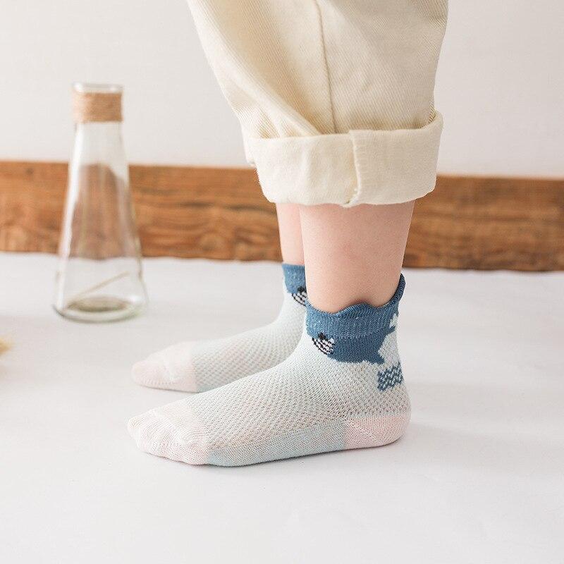 2019 New Style Summer Mesh CHILDREN'S Socks Thin Cotton-Breathable Tube Children's Socks Cartoon Men And Women Baby Babies' Sock