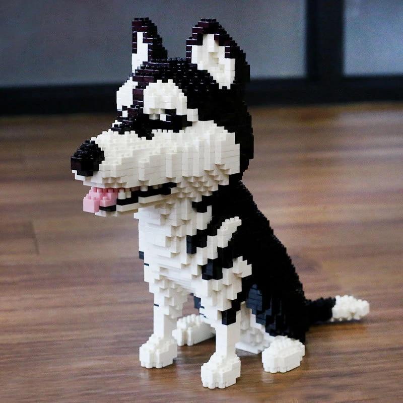 PCS DIY Diamond Mini Building Nano Bricks Blocks Blocks Montaje Regalos para Adultos,Dachshund QSSQ Perro Animal Mascota Modelo 3D 2000