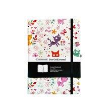 جميل القطط A5 منقط دفتر نقطة شبكة مجلة الغلاف الصلب شريط مرن مخطط السفر مذكرات