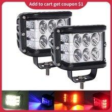 36w três-face atirador luzes dupla cor strobe cree led vagens luzes de trabalho âmbar branco strobe pod luzes para atv suv caminhão