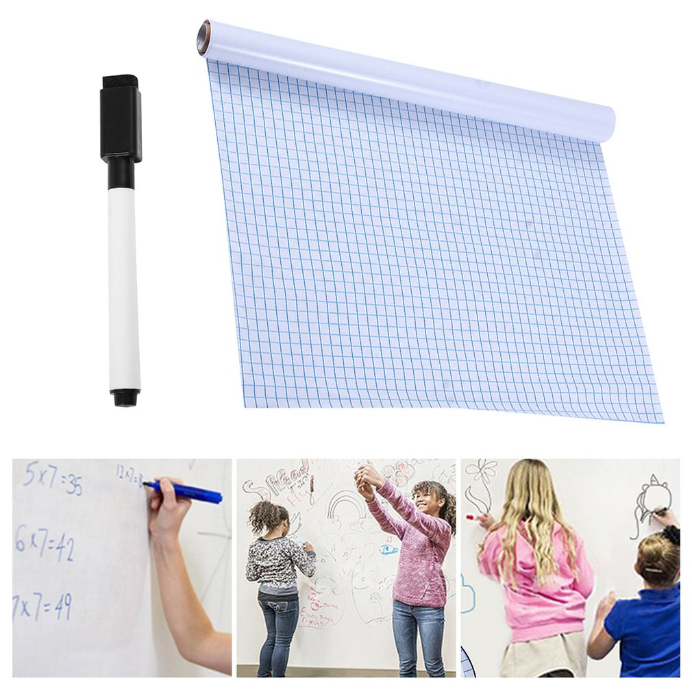 200*45cm Whiteboard Sticker Dry Erase Boards Removable Wall Decal Chalkboard With Whiteboard Pen For Kids Rooms Kitchen