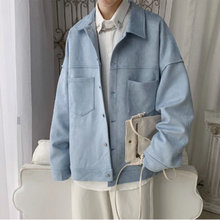 Spring Autumn Tooling Jacket Men Fashion Solid Color Casual Jacket Coat Man Streetwear Wild Hip Hop Loose Bomber Jacket Man