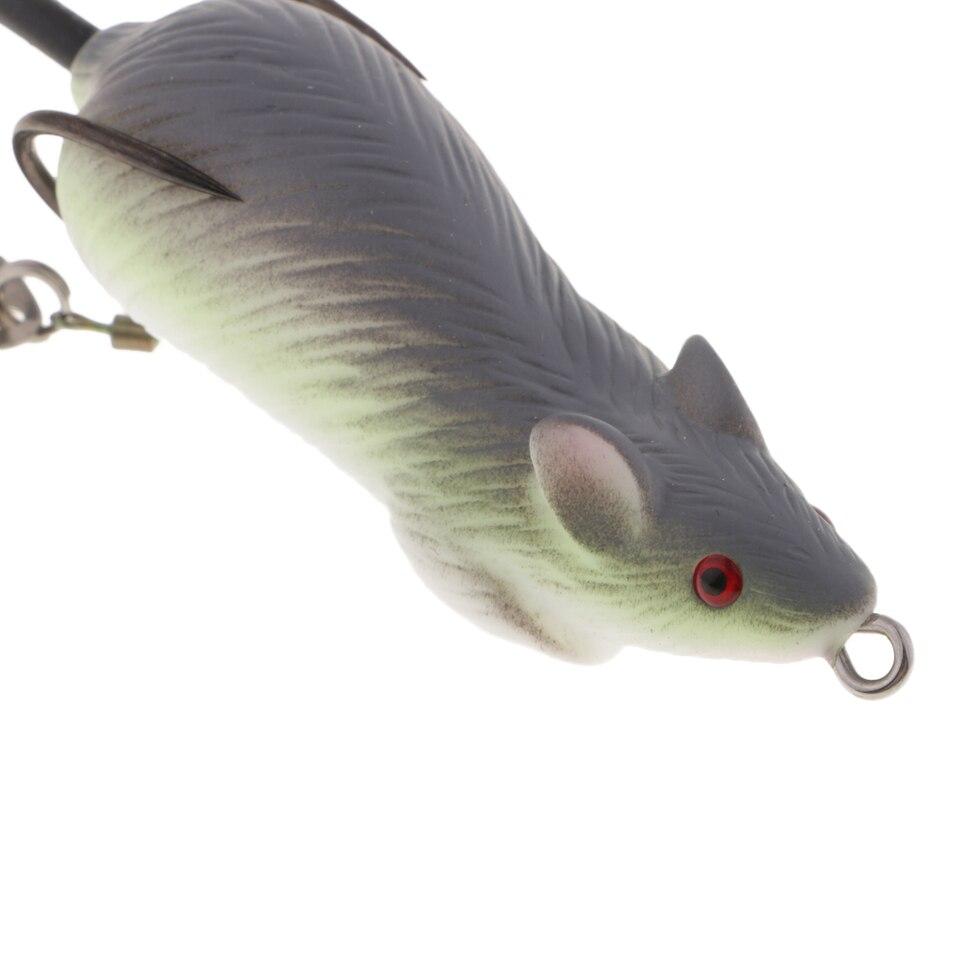 6 Stück Maus Angelköder Locken Ratte Mäuse Wiederverwendbar Realistisch