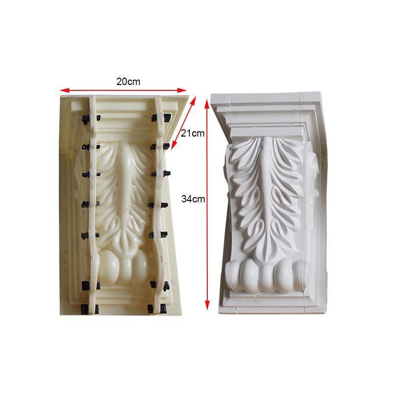 ABS Plastic Indoors Decoration Gypsum /Paris GRG Plaster Cement Flower Leaf Bracket Corbal Seat Mold