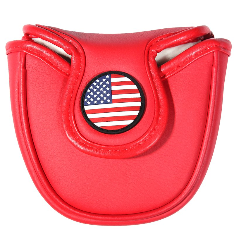 Golf Mallet Putter Headcover Covers For Center Putters With Magnet Closure Thick Lining Protectors