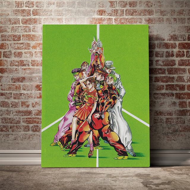 Prints Posters Home Decor Jojo S Bizarre Canvas Painting Wall Artwork Japanese Anime Role Modern Bedroom Cuadros Modular Picture 2