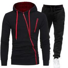 2021 conjuntos de treino casual dos homens hoodies e calças dois conjuntos de peças com capuz com zíper moletom roupa esportiva terno masculino