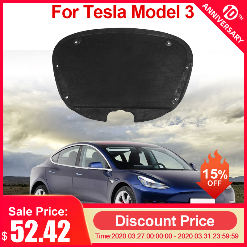 For Tesla Model 3 Front Trunk Cover Sound Insulation Cotton Shock Plate Hood Insulation Modification Car Trunk Protective Pad