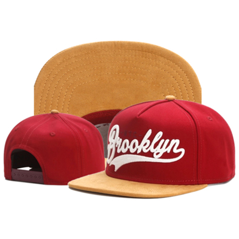 TUNICA Brand FASTBALL CAP BROOKLYN Faux Suede Hip Hop Red Snapback Hat For Men Women Adult Outdoor Casual Sun Baseball Cap Bone