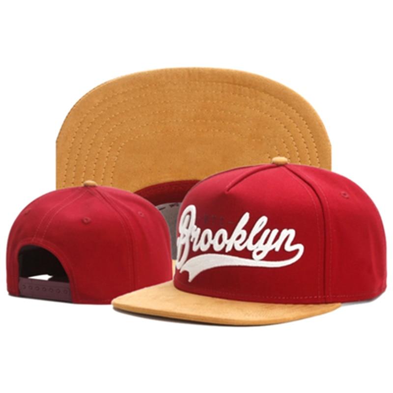 TUNICA-casquette FASTBALL BROOKLYN faux daim | Casquette hip hop rouge pour hommes femmes extérieur décontracté soleil baseball, casquette os