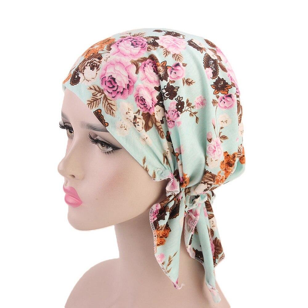 Women Ruffle Cancer Chemo Hat Beanie Scarf Turban Head Wrap Cap Beanie Czapka Zimowa Hats Caps Winter шапка женская Muts Gorro