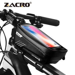 Image 1 - 自転車バッグ防水フロントバイクサイクリングバッグ 6.2 インチ携帯電話自転車トップチューブハンドルバーバッグマウンテンサイクリングアクセサリー