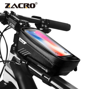 Image 1 - Bicycle Bag Waterproof Front Bike Cycling Bag 6.2 inch Mobile Phone Bicycle Top Tube Handlebar Bags Mountain Cycling Accessories