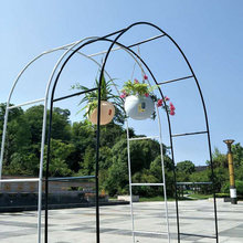 DIY Metal Wedding Arch 2.4M Decorative Garden Backdrop Pergola Stand Flower Frame For Marriage Birthday Wedding Party Decoration(China)