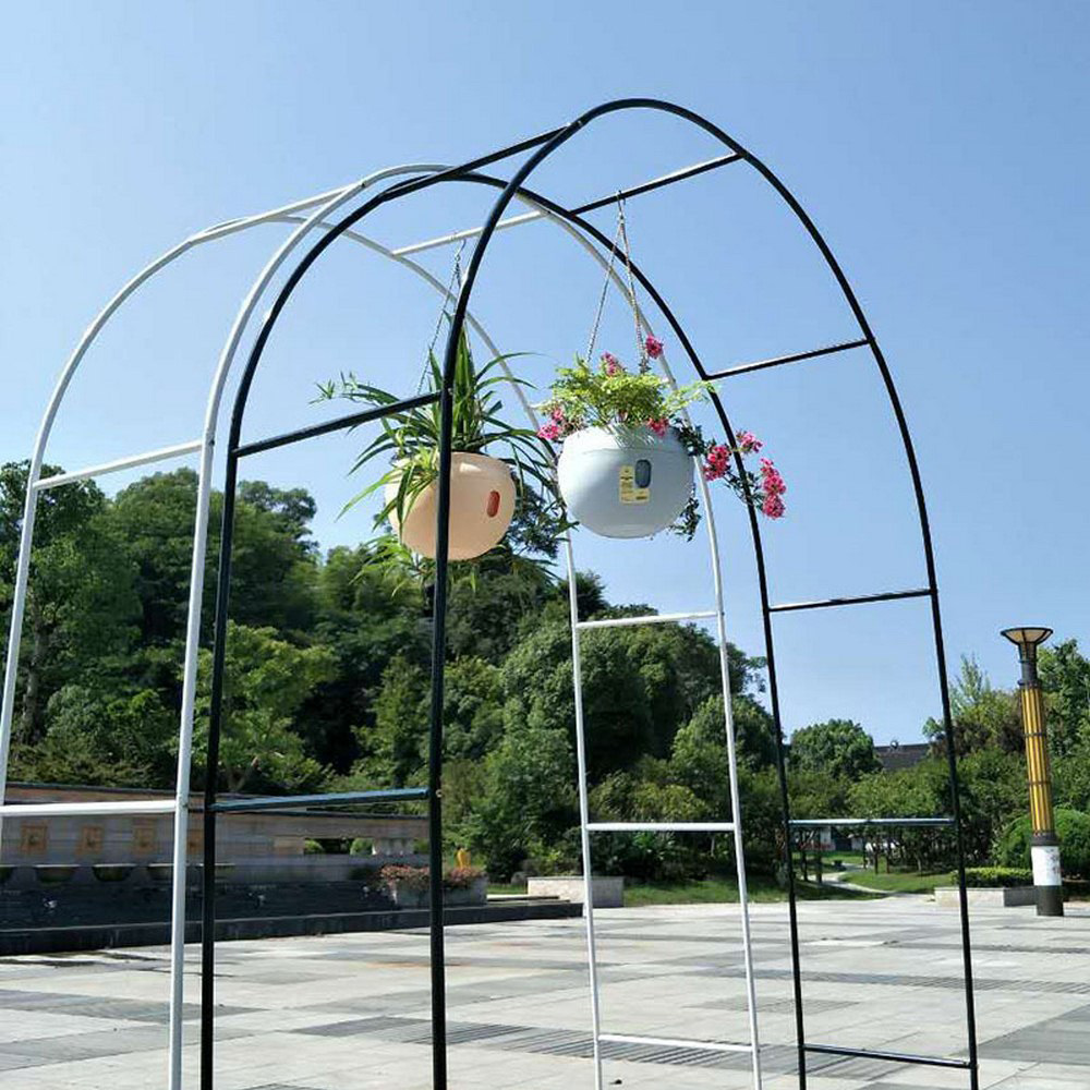 DIY Metal Wedding Arch Decorative Garden Backdrop Pergola Stand Flower Frame For Marriage Birthday Wedding Party Decoration 2.4M