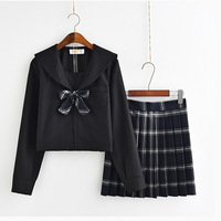 Sakura Japanese school uniform skirt JK uniform Class uniforms Sailor suit College wind Suit Female Students uniforms
