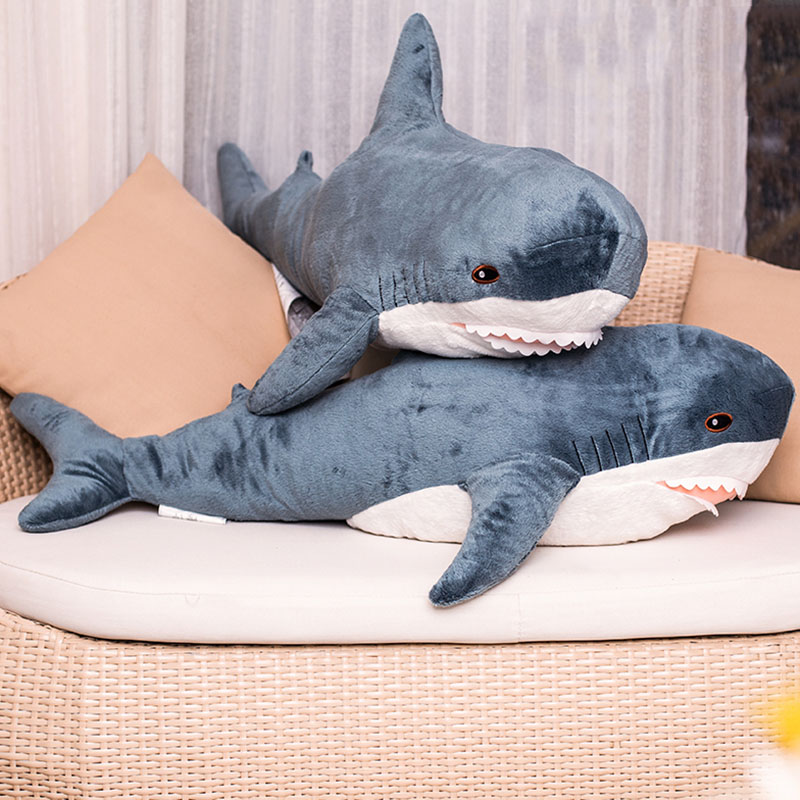 Big Size Funny Soft Bite Shark Plush Toy Pillow Appease Cushion Gift For Children 80-140cm