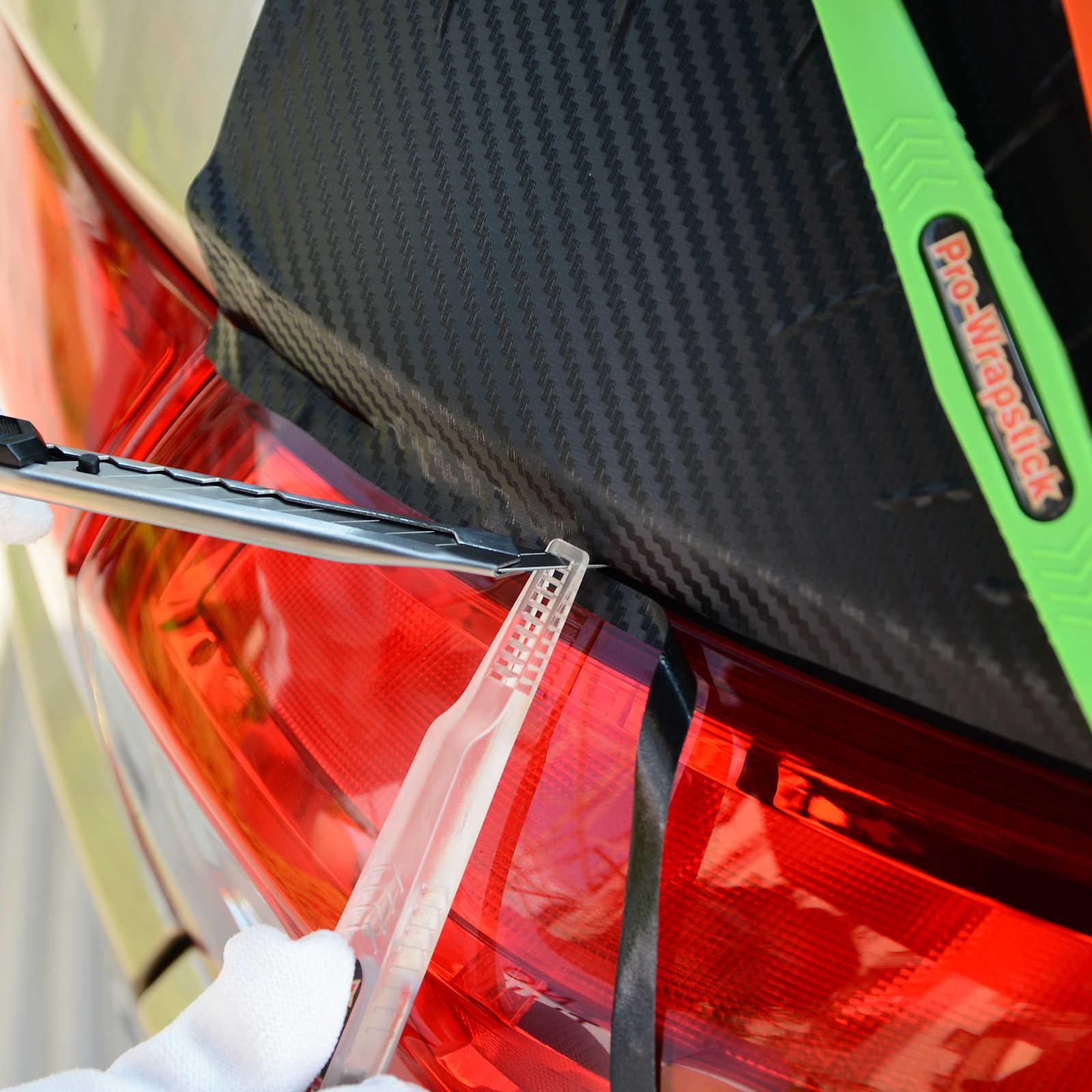 Ehdis Serat Karbon VINYL Mobil Stiker Magnetik Squeegee Film 3 Kekerasan Wrapstick Scraper Warna Jendela Pembersih Auto Aksesoris
