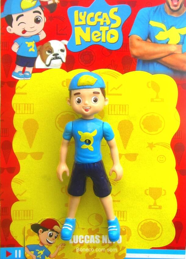 13cm Cute Lucas Neto  Action Figure Toys With Light Vinyl Model  Bonecos Children Birthday Christmas  Luccas Neto Gifts