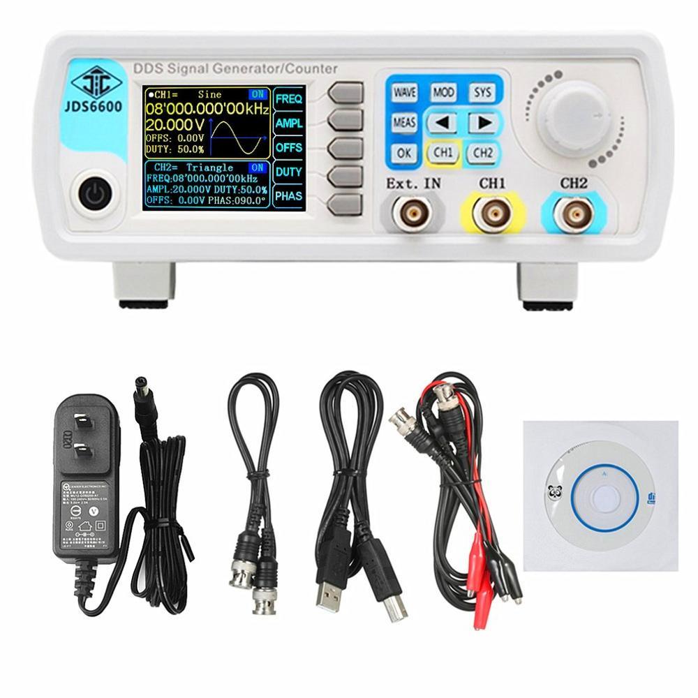 JDS6600 50MHz contrôle numérique DDS double canal arbitraire forme d'onde générateur de Signal fonctionnel fréquence mètre haute précision