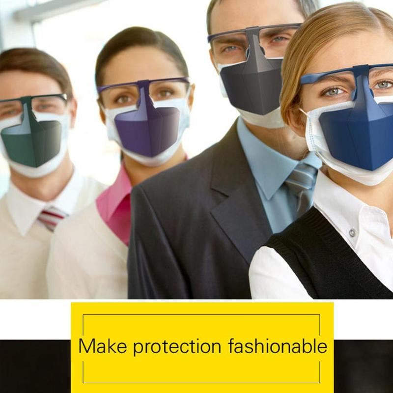 Antiviral Face Shield Isolated Mask Plastic Anti-fog Full Protective Breathable Seal Supplies Hood Mouth Anti