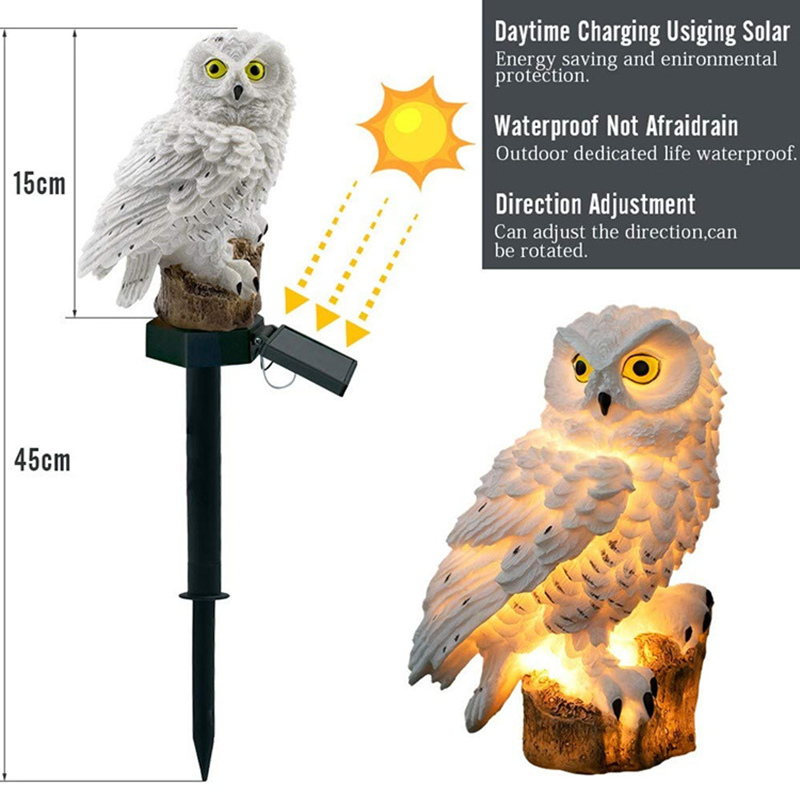 lowest price Solar Led Light Outdoor Lighting Garden Waterproof Night Lights Owl Shape Outdoors Lamp Stake Lawn Lamps Christmas Decoration