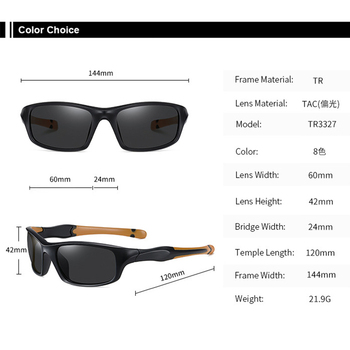AIRLBRO Cycling Goggle 8 Color Polarized Sunglasses UV400 Cycling Sunglasses Men's Cycling Safety Glasses For Bicycle 6