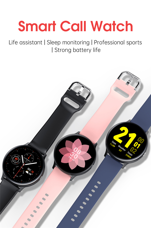 H7932a399a337407ba65aba1f9019eea7u 2021 Bluetooth Call watch Smart watch For men And women Full touch fitness tracker Blood pressure Smart clock ladies Smart watch